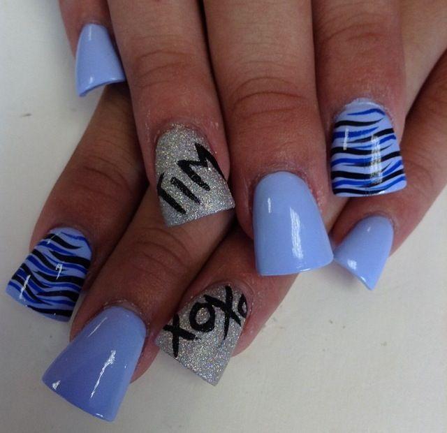 Nail design with boyfriends name | My nail art | Pinterest