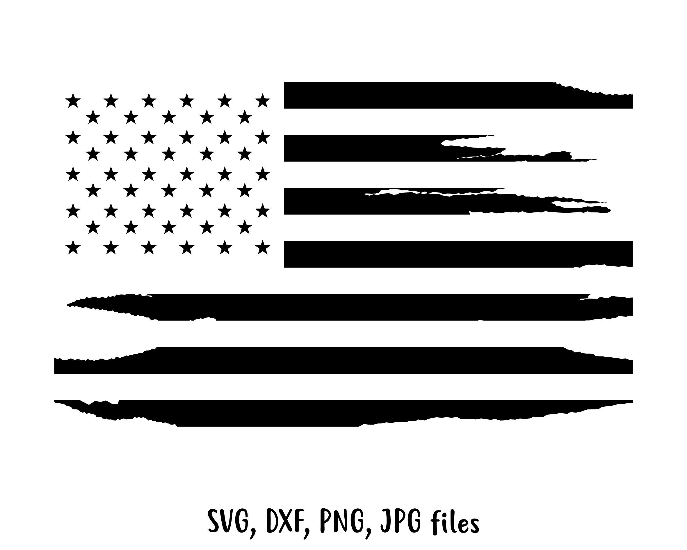 Distressed Flag Svg American Flag Svg 4th Of July Svg Us Etsy Vintage Flag Black American Flag Svg
