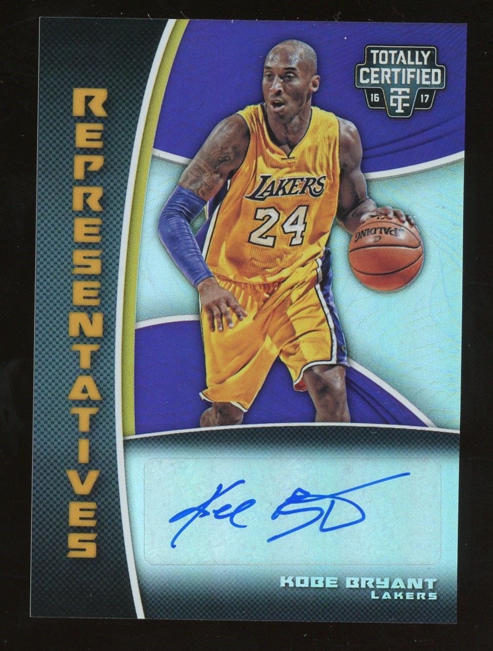 2016 17 Totally Certified Representatives Kobe Bryant Lakers Auto 25 25 Basketballcards Bryant Lakers Basketball Cards Kobe Bryant