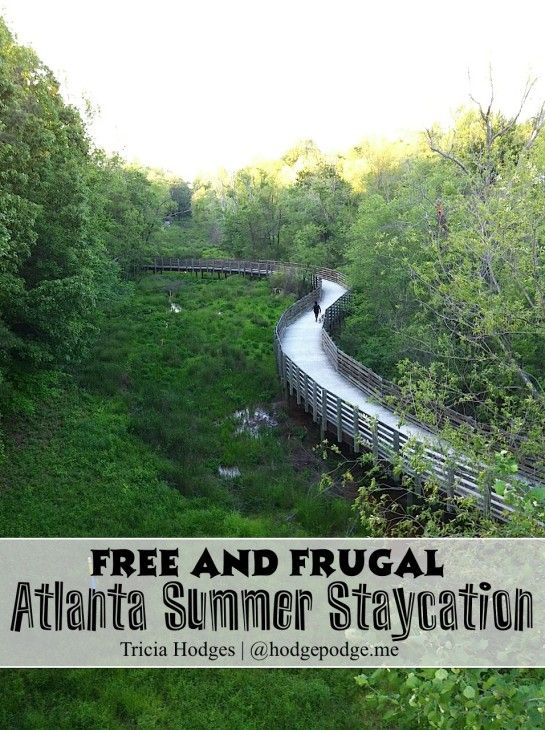 Free And Frugal Atlanta Summer Staycation Hodgepodge Summer Staycation Staycation Vacation Trips
