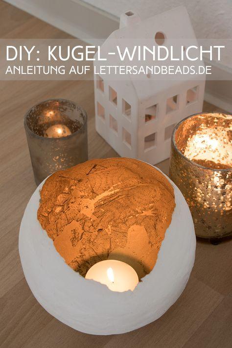 DIY Deko Windlicht mit Gold: Es wird besinnlich(t)! - Letters & Beads