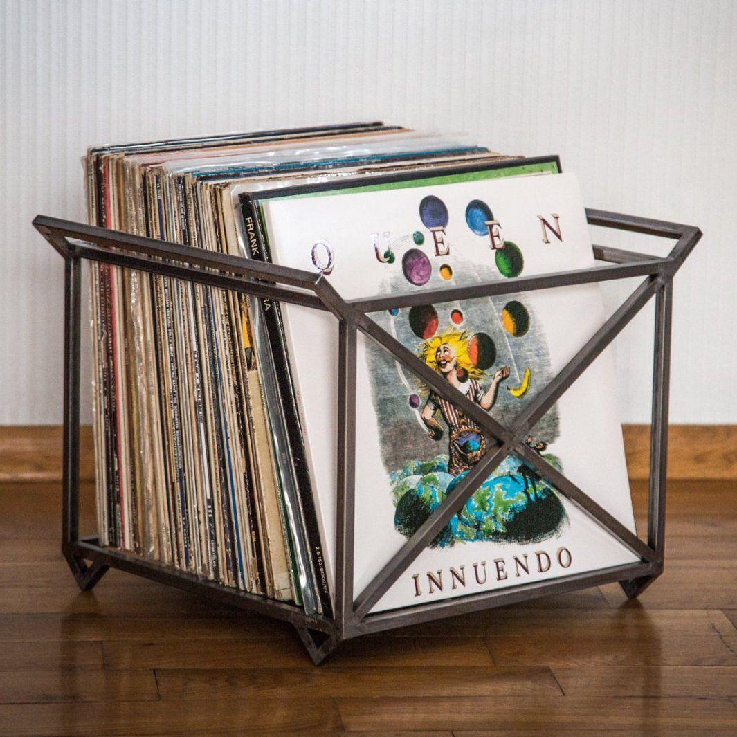 12 Vinyl Lp Record Metal Crate Metal Unique Vinyl Vinyl Record Storage Vinyl 45 Record Storage