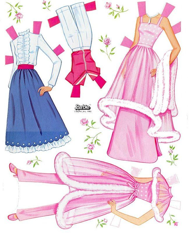 photograph regarding Printable Barbie Paper Dolls identified as Web page with Barbie paper dolls ~ Barbie - garments ~ Paper