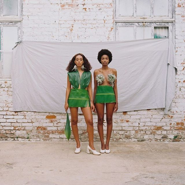 @saintrecords wearing the leaf suits and @keefpalas earrings  #solange #keefpalas