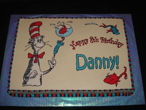 Cat In The Hat Birthday Cake Birthday Sheet Cakes Seuss Cakes