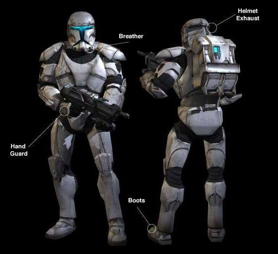 Star Wars Republic Commando Armor Ver2 Free Papercraft Download