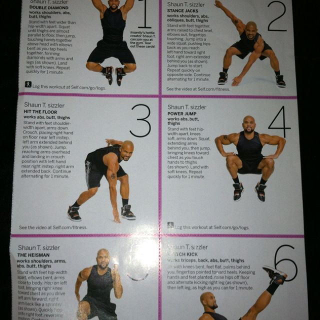 Thought This Looked Easy Enough As I Tore It Out Of My Fitness Magazine I Was Completely Wrong Shaun T Has Kicked Shaun T Fitness Magazine Workout Challenge