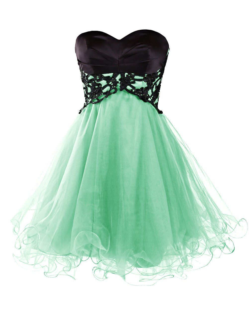 Sexy A-line Sweetheart Knee Length Tulle Homecoming Dress with Lace ...