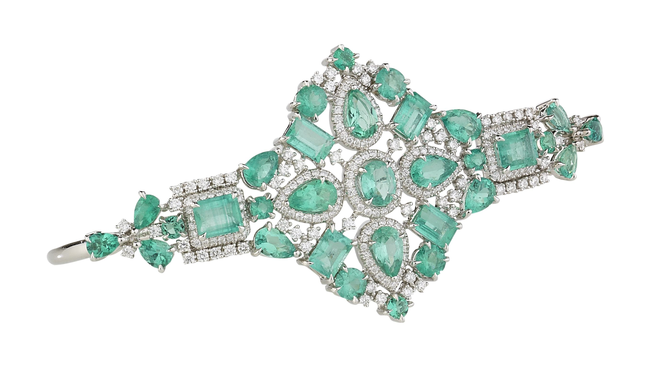 Gaydamak Emerald Ring and Cuff Bracelet I5Z7jzHB7