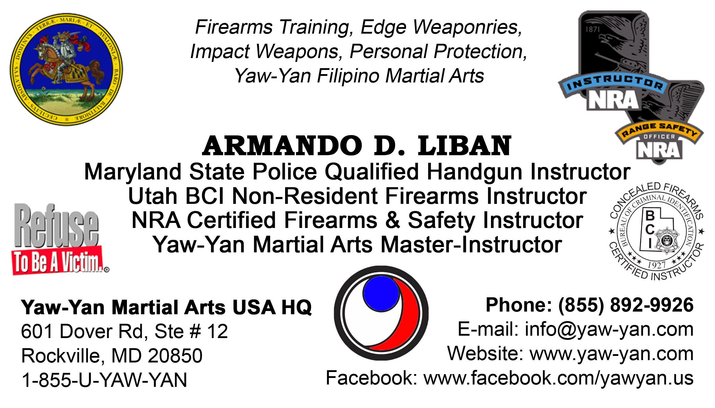 Business card back master armando d liban yawyan