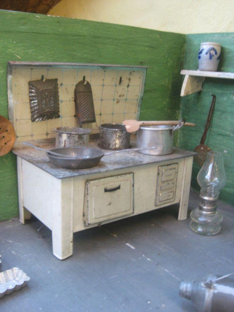 Dachbodenfund Puppenherd Puppenofen Blech Ofen Töpfe Küche - Ebay Küchen Kaufen