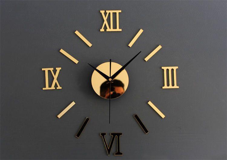 Design Wand Uhr Wohnzimmer Wanduhr Spiegeleffekt