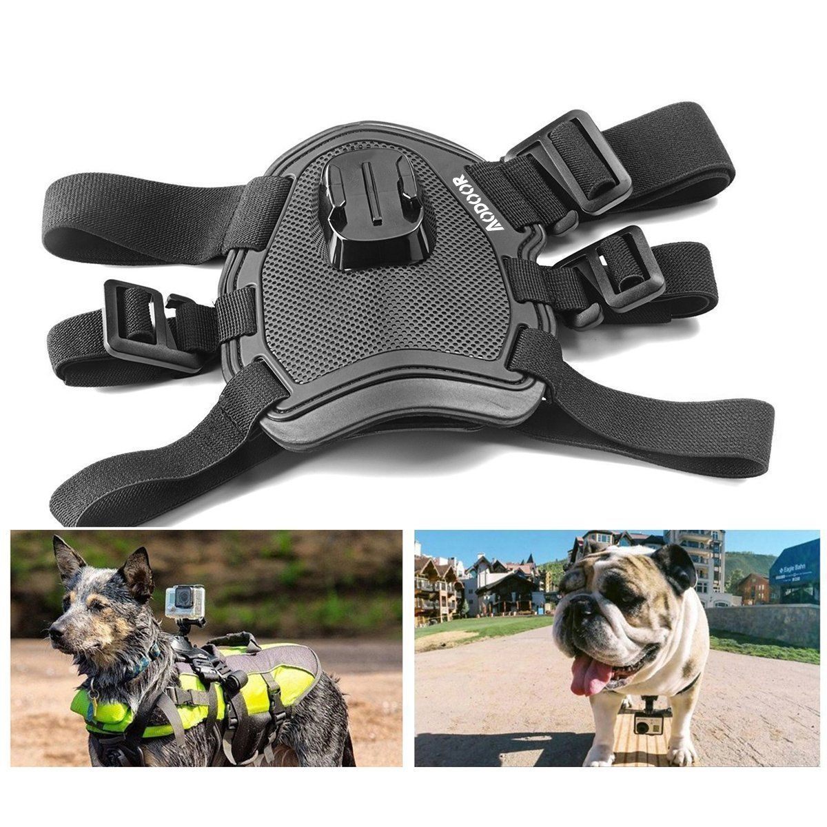 Aodoor Chest and Back Mount Dog or Pet Harness for Gopro