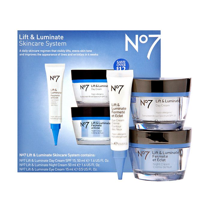 Boots No7 Lift Luminate Skincare System 63 Value Skin Care System Boots No7 No7