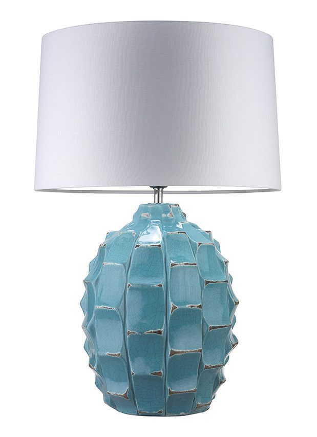 Bayern Turquoise Inspired By The Brutalist Architectural Movement These Striking Lamps Are Finished With And Ivory Le Glazes