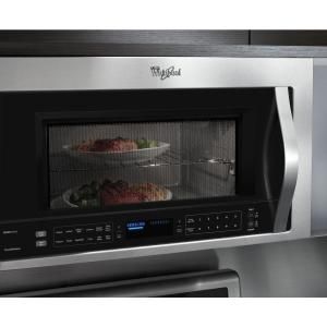 Whirlpool 30 In W 1 9 Cu Ft Over The Range Microwave With True Convection Cooking Fingerprint Resistant Stainless Steel Wmh76719cz Home Depot