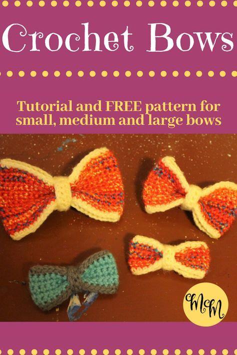 Crochet Bow #crochetbowpattern