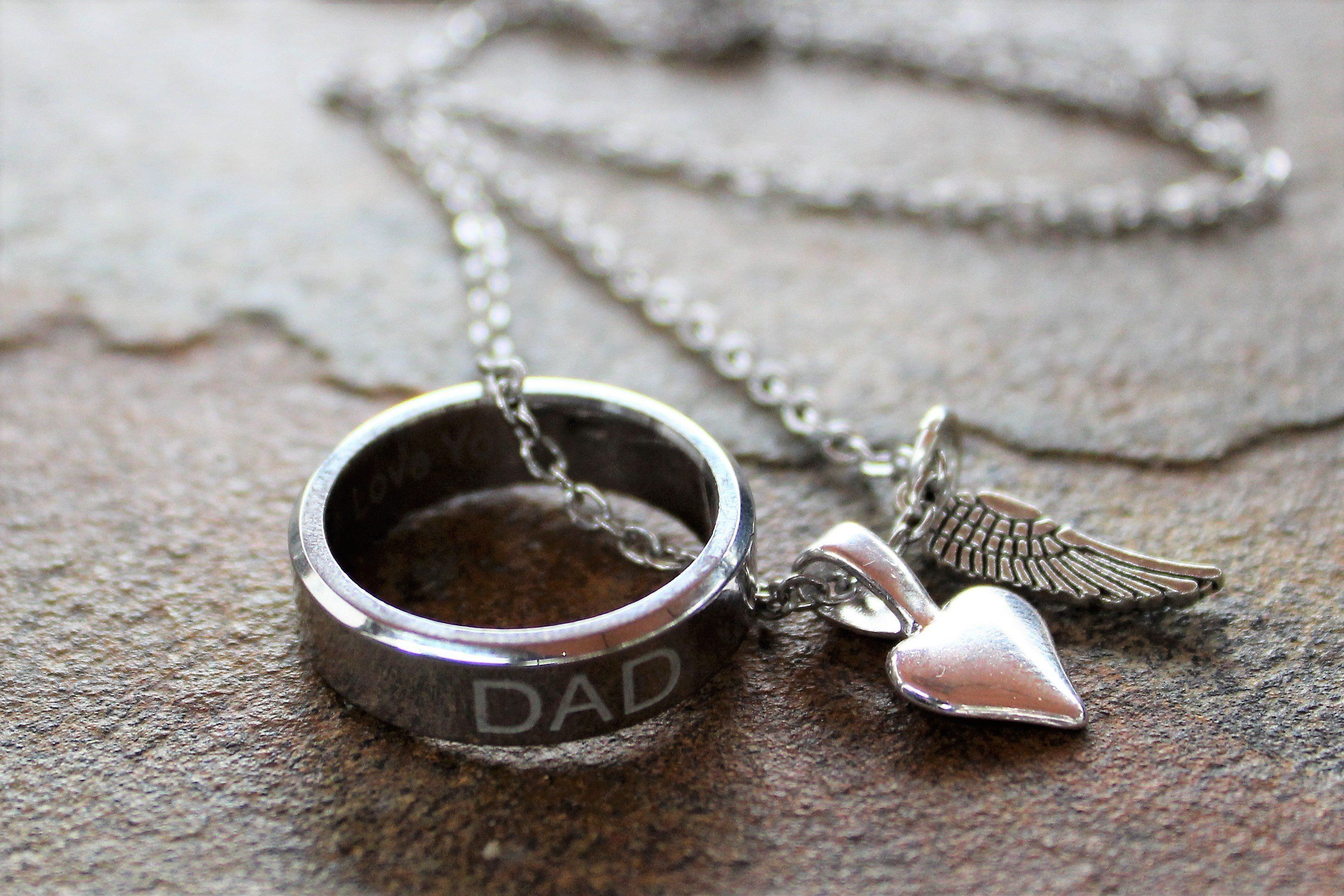 Dad memory necklaceunisex necklace jewellery shop
