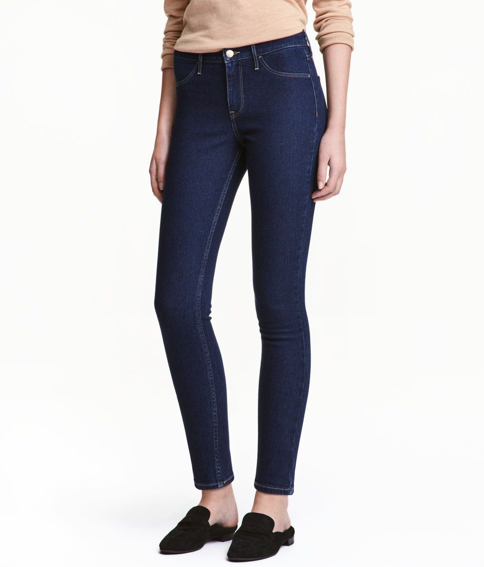 Check this out anklelength jeans in washed stretch denim