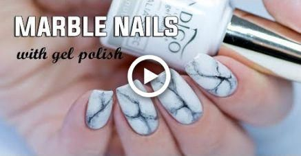 realistic marble nails  easy stepstep with gel polish