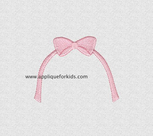 Stand Alone Embroidery Designs : Embroidery bow perfect as a stand alone design or add