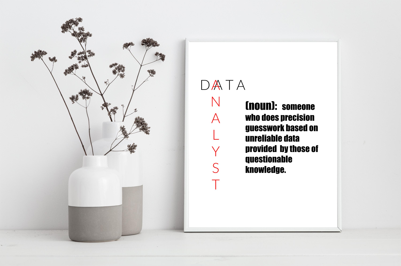 Data Analyst Printable Definition Joke Analyst Consulting Etsy Data Analyst Data Analyst