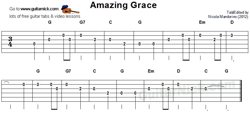 amazing grace easy guitar tab guitar in 2019 easy guitar tabs easy guitar. Black Bedroom Furniture Sets. Home Design Ideas