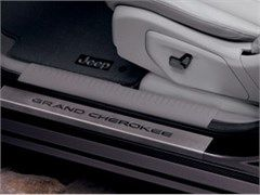 All Things Jeep Door Sill Guards For Jeep Grand Cherokee 2011 2015 In Stainless Steel By Mopar Jeep Grand Cherokee