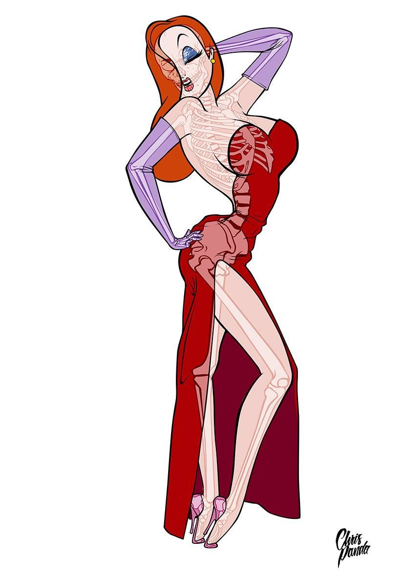 ultimate x ray jessica rabbit by chris panda who framed roger