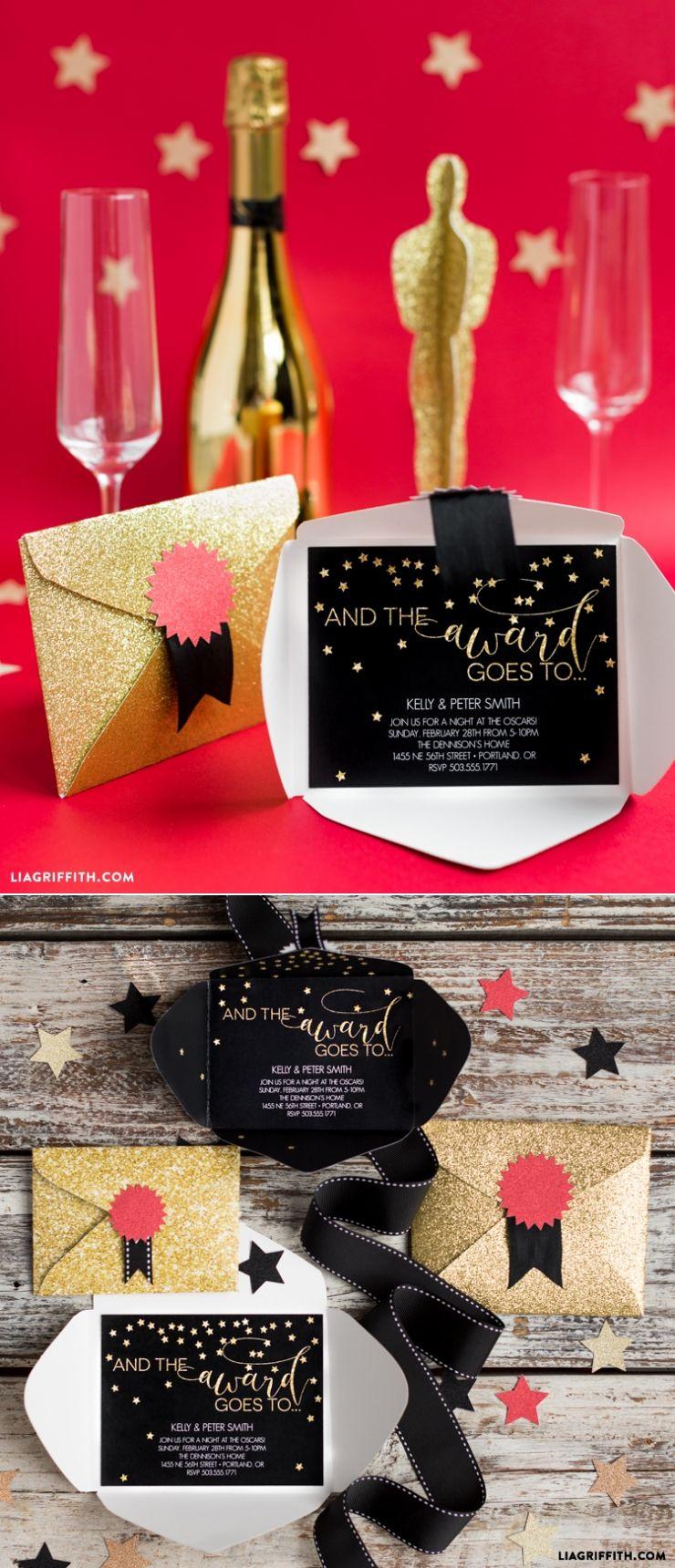 Oscar Party Invitation | Oscar party, Hollywood theme and Hollywood ...