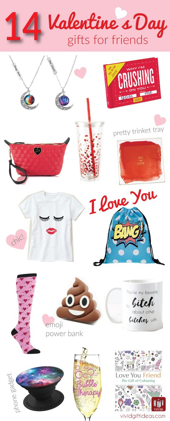 14 Heartfelt Valentine S Day Gifts For Your Best Friends Valentines Day Gifts For Friends Girlfriend Gifts Friends Valentines