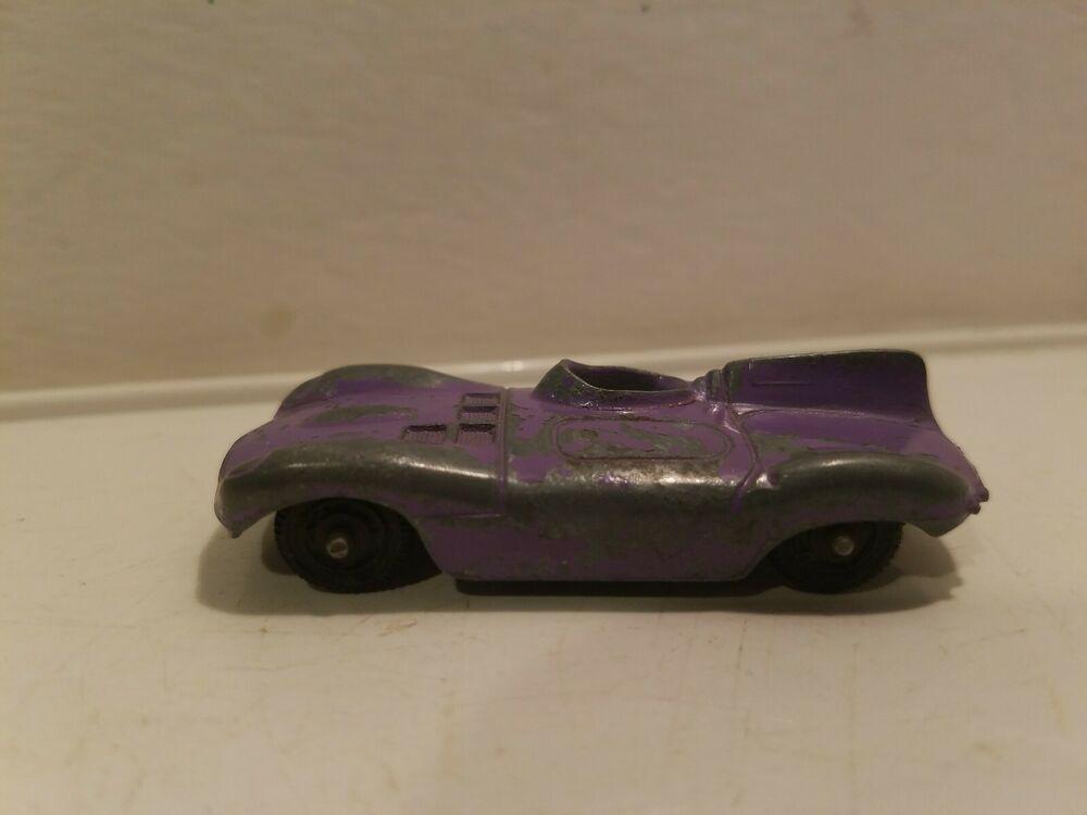 Vintage Tootsie Toy Jaguar Le Mans Race Car Purple Diecast Made In Usa Tootsietoy Jaguar Toys Vintage Toys Jaguar
