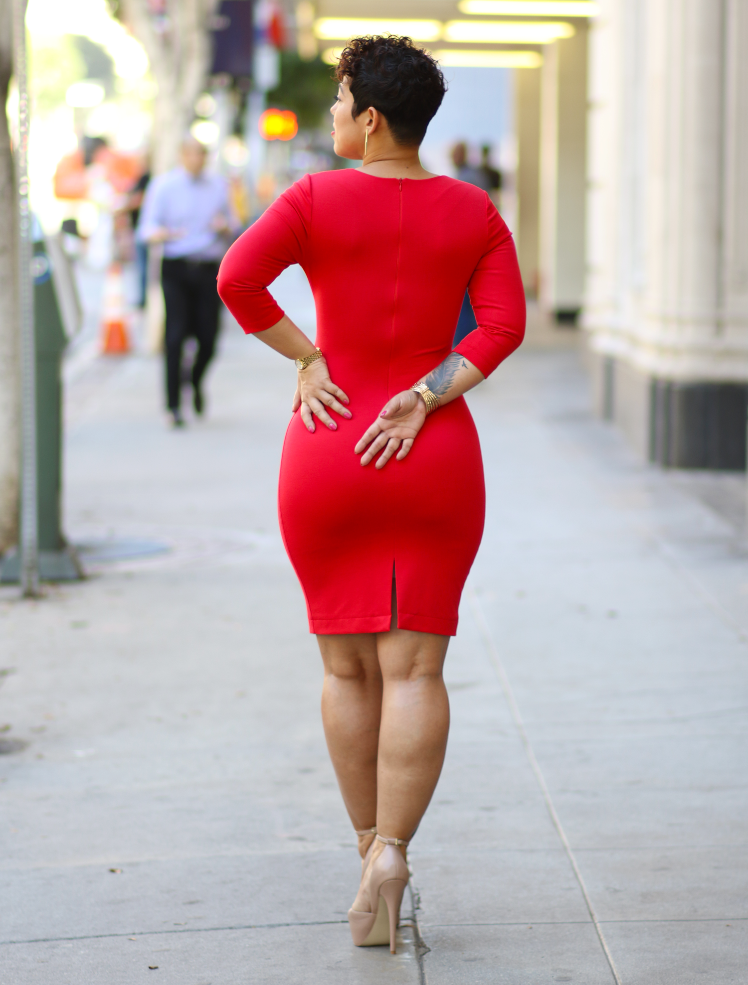 Mimi g style red dress on red