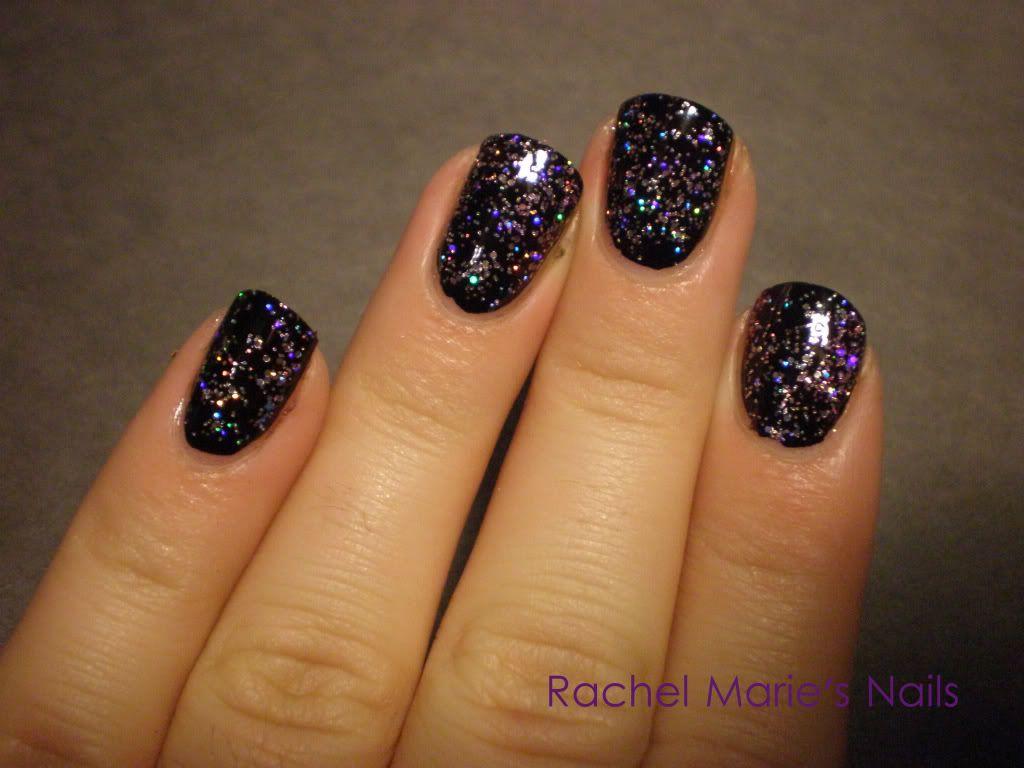 dark sparkly manicure - Google Search | Manicures | Pinterest | Manicure