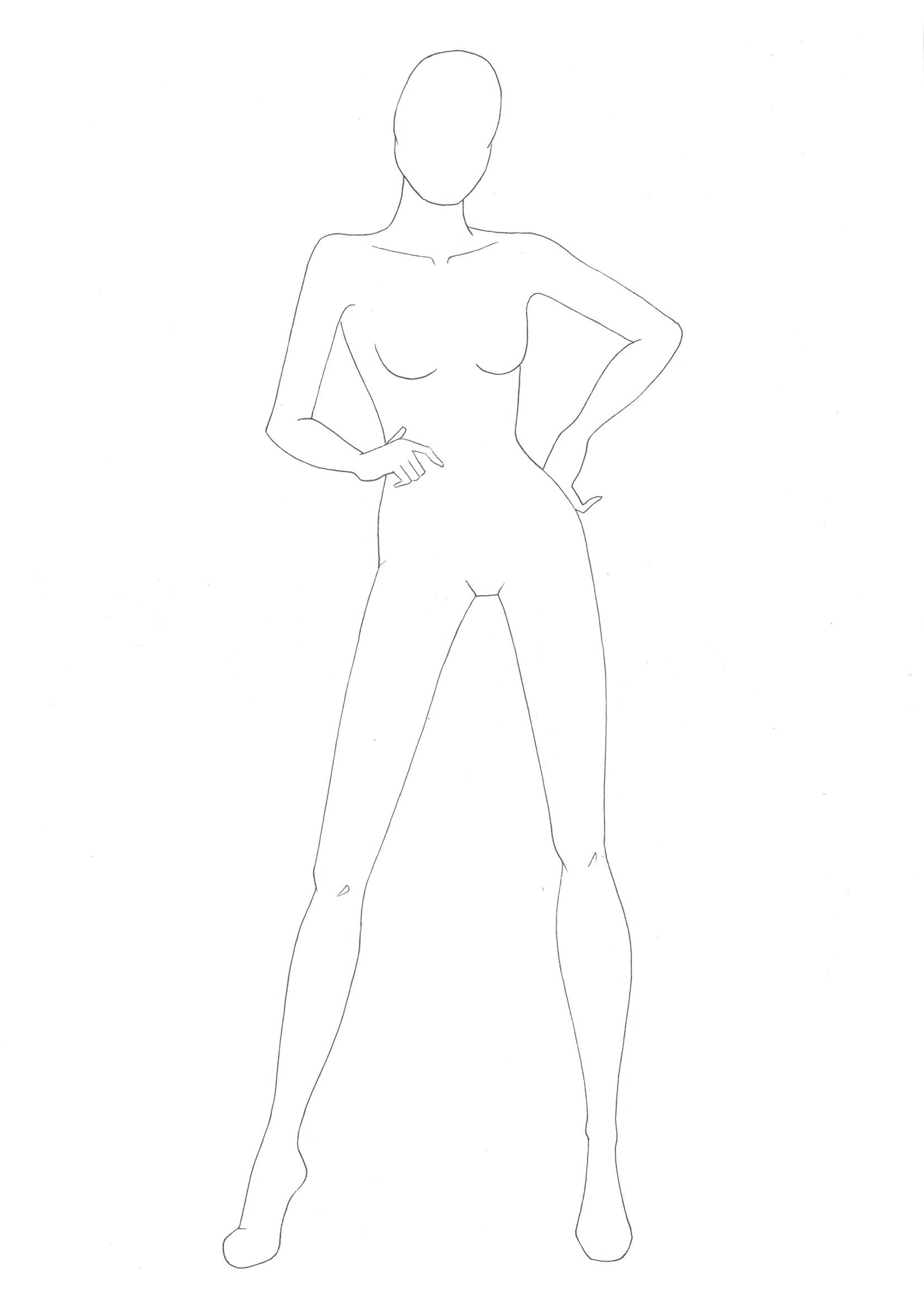 Image result for fashion model sketch outline - picsstyle.com