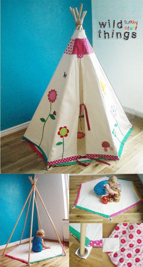 ein teepee oh wie sch n als ich ein kind war ich m chte immer eine teepee haben baby. Black Bedroom Furniture Sets. Home Design Ideas