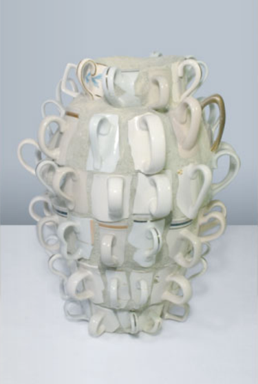 joan bankemper's ceramics. I should totally make my advanced ceramics class do this! They need to work in pulling handles.