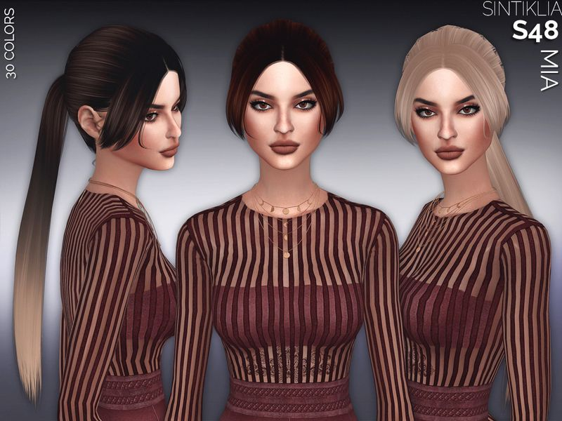HQ texture  Found in TSR Category 'Sims 4 Female Hairstyles'
