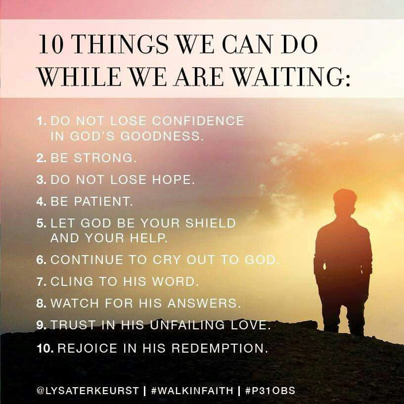 Wait upon the Lord | Waiting on god, Online bible study