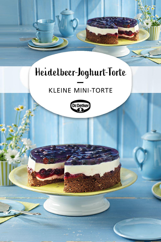 Kleine Heidelbeer-Joghurt-Torte #vanillayogurt
