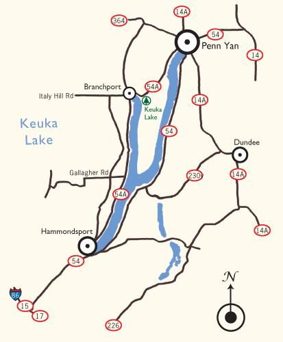 Keuka Lake Map - View Maps of Keuka Lake | summer vaca | Map, View on