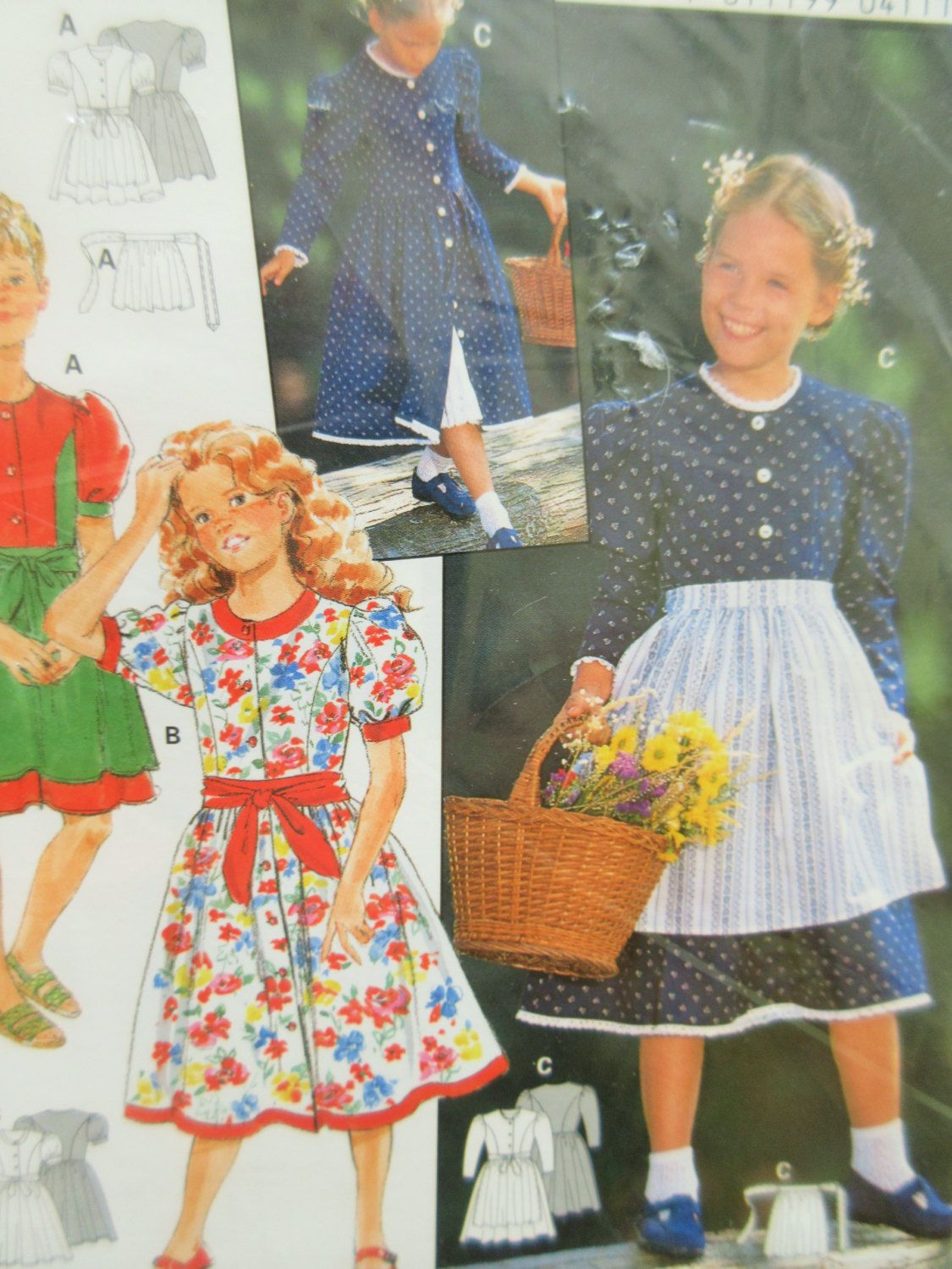 Dirndl Pattern, Burda Sewing Pattern 4111, Girls' Dirndl ...