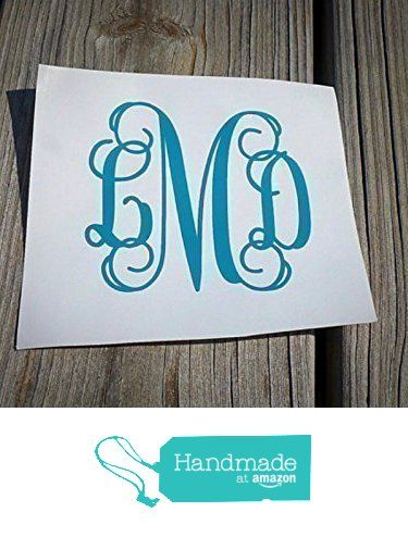 Custom Vine Monogram Decal FREE SHIPPING Monogram Car Decal - Custom design car decals free