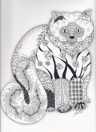 The Pussy Cat | cat pics | Pinterest | Mandalas, Gato y Colorear