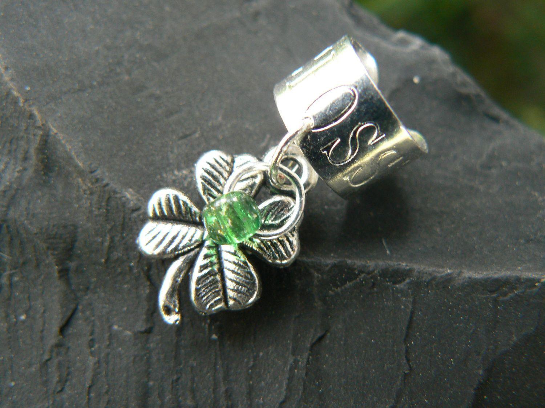 shamrock ear cuff lock 4 leaf clover shamrock lucky in gypsy boho hippie hipster and fantasy style