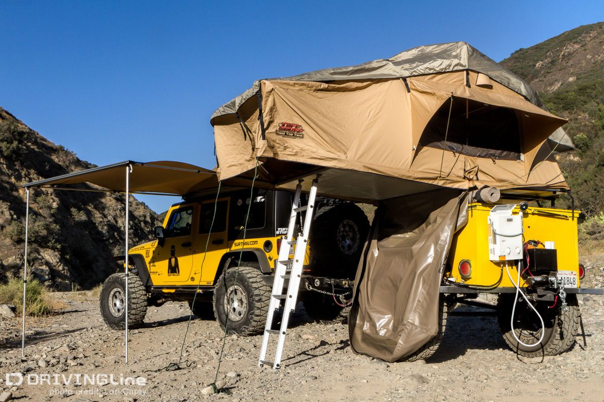 Tuff Stuff Rooftop Camping Tent with Annex Trailer build