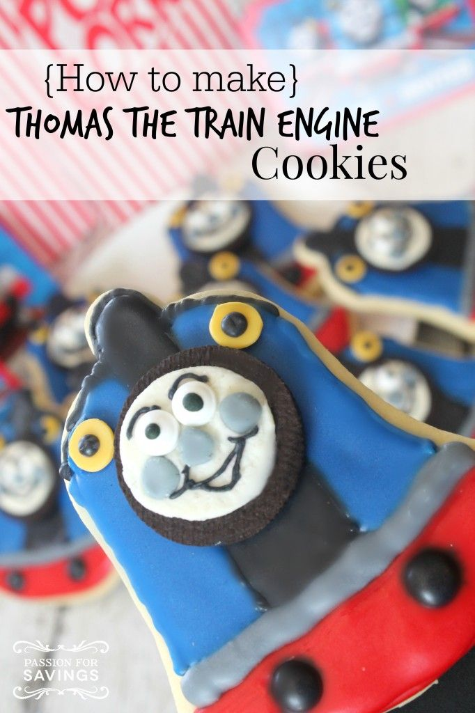 thomas the train engine cookies