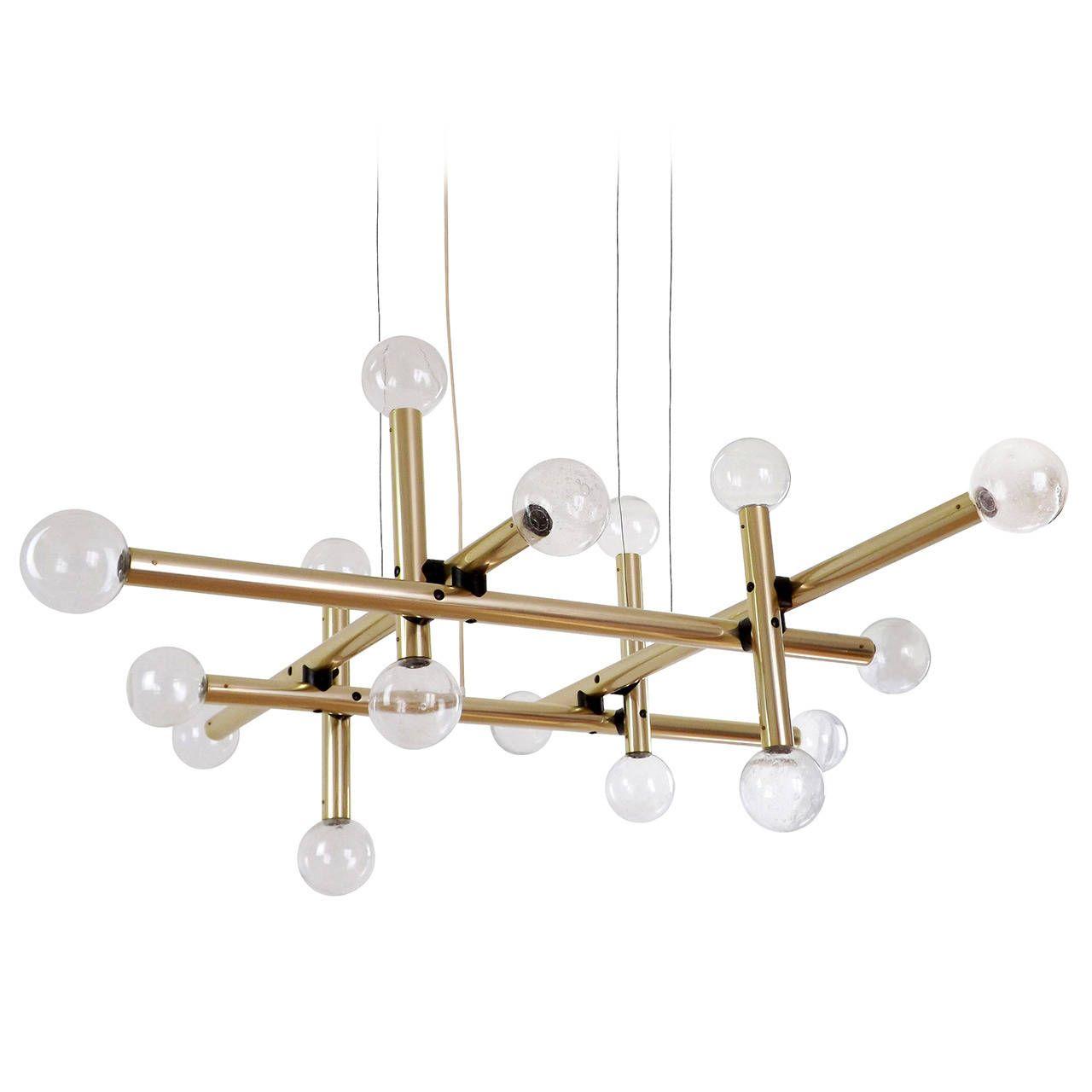 Kalmar sputnik chandelier huge atomic pendant light pair available four huge modernist atomic lamps chandeliers by kalmar from a unique collection of antique and arubaitofo Image collections