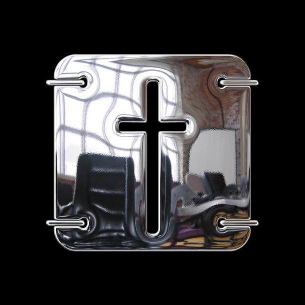 Tipografía U2 Metalona Unicase con efecto metálico hecho con photoshop. #Typeface #Fonts #letters @deFharo
