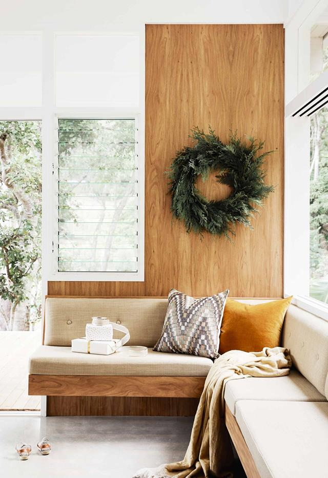 A modernist-style house in Byron Bay that's full of festive charm